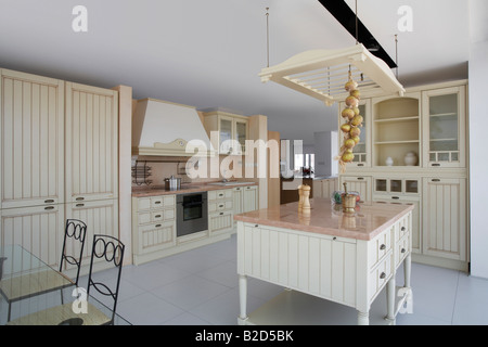 modern country style kitchen in macclesfield townhouse cheshire stock photo royalty free image