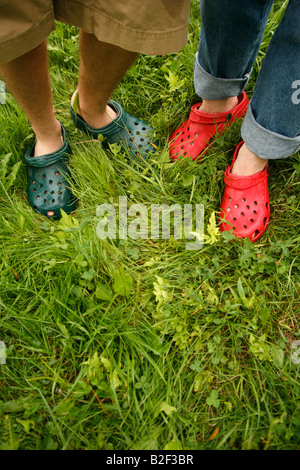 two pair of feet - Stock Photo