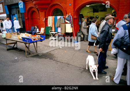 market stalls on a street in glasgow - Stock Photo