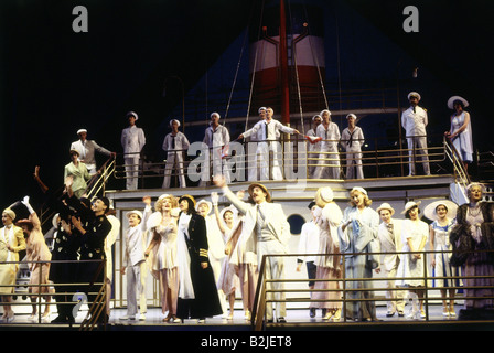 theatre, musical theatre, 'Anything Goes', Theater des Westens, Berlin, Germany, 29.1.1993, scene with ensemble - Stock Photo