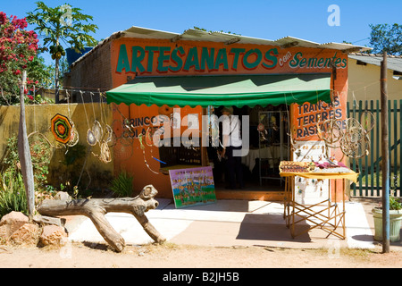 Art Crafts Shop, Povoado de São Jorge, Veadeiros Tableland, Goiás, Brazil, South America - Stock Photo