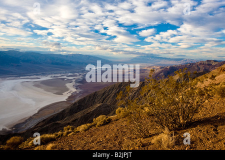 A winter sky over Death Valley as seen from Dante's View. - Stock Photo
