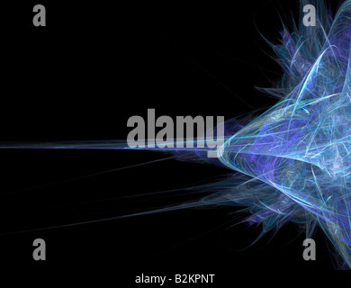 Abstract blue fractal artwork that makes a great high tech art element or background for any design project - Stock Photo