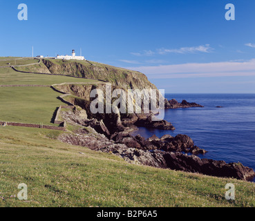 Sumburgh Head lighthouse, South Mainland, Shetland Isles, Scotland, UK - Stock Photo