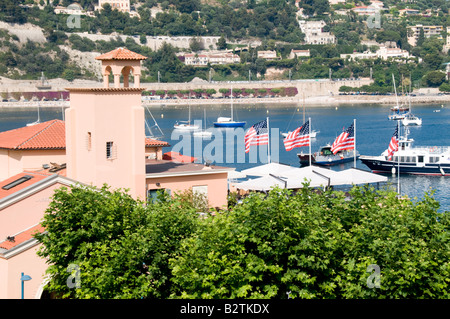View of Villefranche Harbour, Cote d'Azur, France - Stockfoto