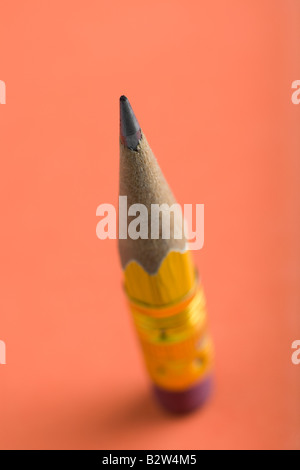 Short used pencil - Stock Photo