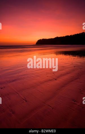 Sunset at Agonda Beach, South Goa, India, Asia - Stock Photo