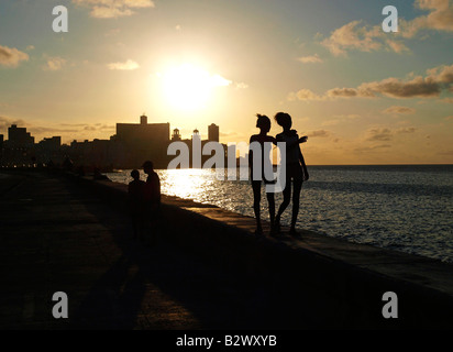 Havanna Vieja, old city, Malecon - Stock Photo