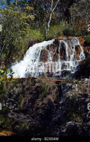Cachoeiras, Rio Cristal, Chapada dos Veadeiros, Veadeiros Tableland, Goias, Brazil - Stock Photo