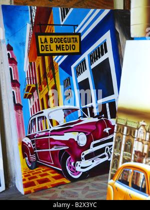 Havanna Vieja, old city, La Bodeguita Del Medio - Stock Photo