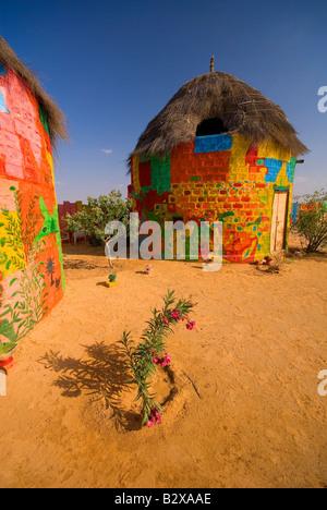 Artist Colony, Great Thar Desert, near Jaisalmer, Rajasthan, India, Subcontinent, Asia - Stock Photo