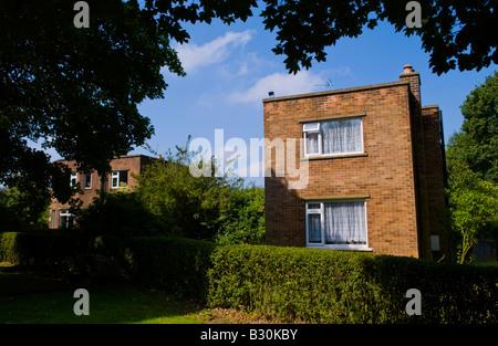 Detached house built in 1940s in rural Rufford Nottinghamshire England UK EU - Stock Photo