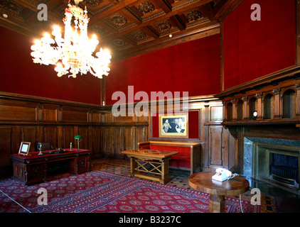 The meeting room of the Yalta Conference, Livadia, Ukraine - Stock Photo