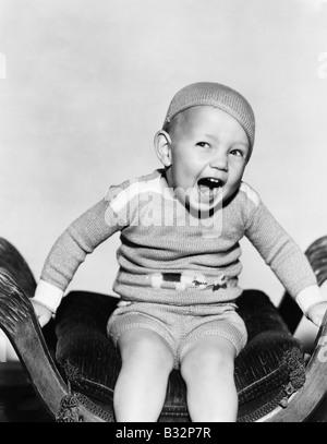 Portrait of playful boy - Stockfoto