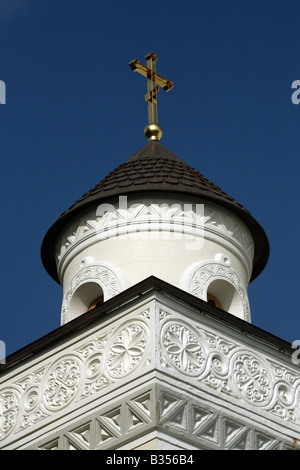 The church tower at the Livadia Palace, Livadia, Ukraine - Stock Photo