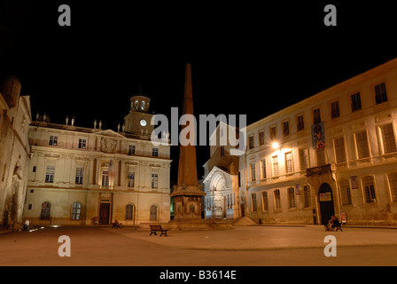 Place de la Republique in Arles, France - Stock Photo