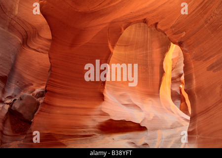 Arch in in Lower Antelope Canyon Page Arizona - Stock Photo