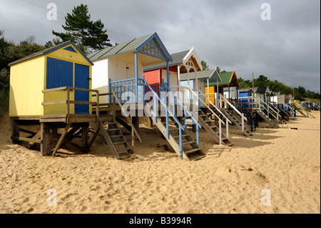 Beach huts, Wells-Next-the-Sea, Norfolk - Stock Photo