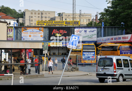 Prague Florenc bus terminal - Stock Photo