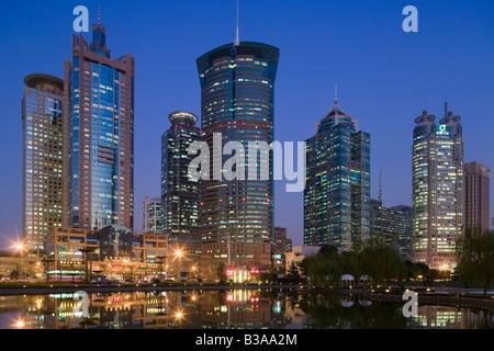 China, Shanghai, Pudong, Lujiazui financial district - Stock Photo