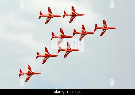 Royal Air Force Red Arrows BAe Hawk - Stock Photo