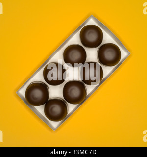 Chocolate confectionary, traditional German candy, elevated view - Stock Photo