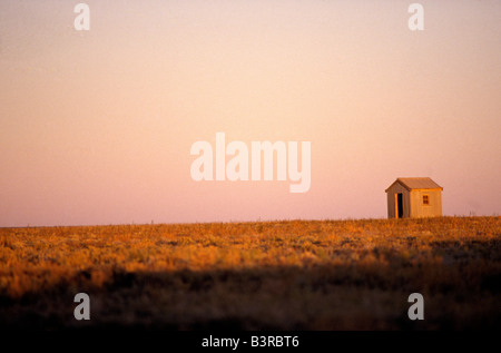 Corrugated iron tin hut - Stock Photo