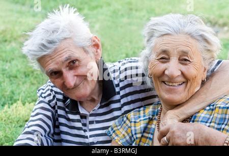 Love has no age Happy senior couple - Stock Photo