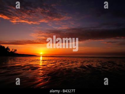 Naayii kun sunset, Haida Gwaii, 2008 - Stock Photo