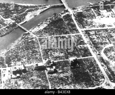 events the led to the bombing of hiroshima This map shows the range of the destruction caused by the atomic bomb dropped  over hiroshima exploding directly over a city of 320,000, the bomb vaporized.
