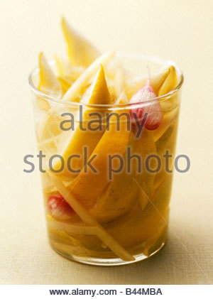 Jar of confit lemon - Stock Photo
