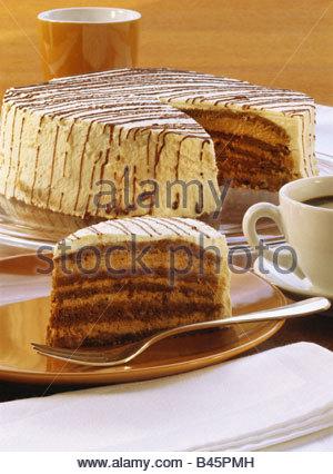Espresso cake - Stock Photo