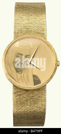 King Faisal Ibn Abdul Aziz al-Saud (1906 - 1975)., A golden presentation wrist watch, Geneva, circa 1970. Chopard - Stock Photo