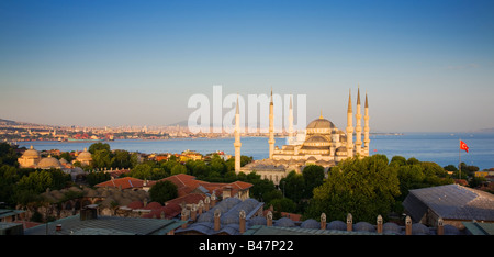 Turkey Istanbul Sultan Ahmed Mosque Blue Mosque - Stock Photo