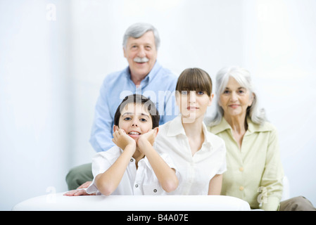 Three generation family, portrait - Stock Photo