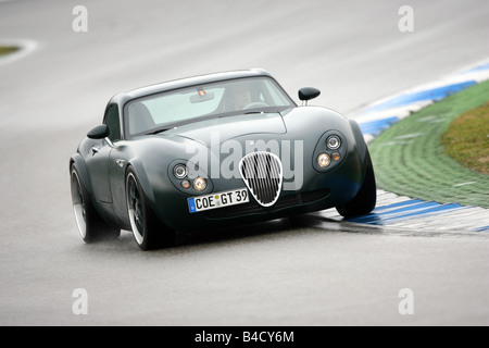 Wiesmann GT, driving, diagonal from the front, frontal view, test track - Stock Photo