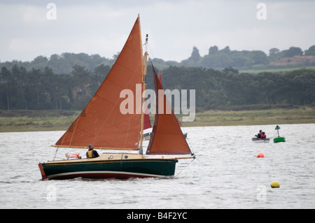 Sailing Yacht at Morston North Norfolk East Anglia England - Stock Photo