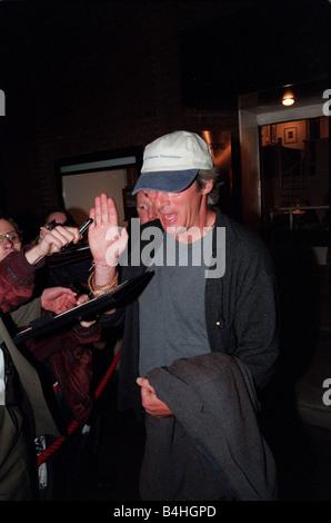 Richard Gere Actor September 98 Leaving San Lorenzo restaurant in london - Stock Photo