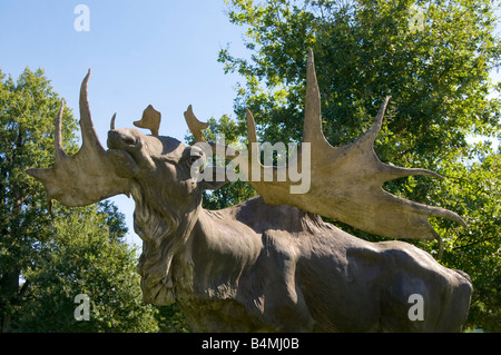 Life size sculpture of elk moose at la haute touche zoo for Zoo haute touche