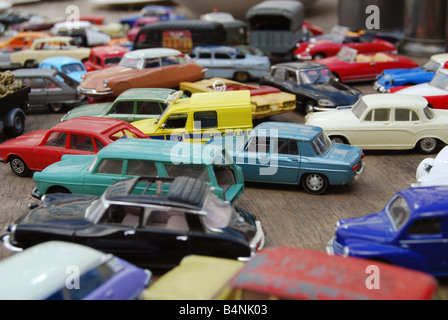 vintage toys for sale at car boot fair die cast 1950 s and 1960 s stock photo royalty free. Black Bedroom Furniture Sets. Home Design Ideas