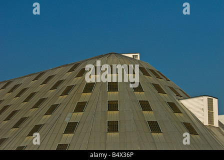 The roof of No 3 Slip Cover Chatham Historic Dockyard in Kent. - Stock Photo
