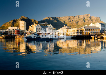 Waterfront, Table Mountain, Cape Town, Western Cape, South Africa - Stock Photo