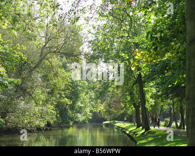 OXFORD, UK. The River Cherwell running through Christ Church Meadow shortly before it joins the Thames. - Stock Photo