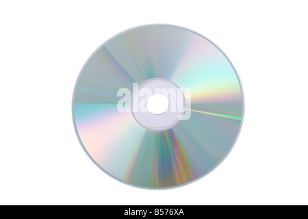 Blue DVD/CD/Blu-ray isolated on a white background - Stock Photo