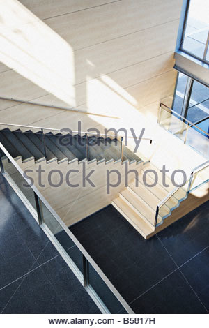 Staircase in modern office building - Stock Photo