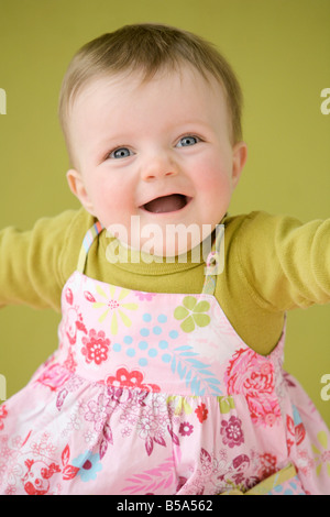 Smiling baby girl - Stock Photo