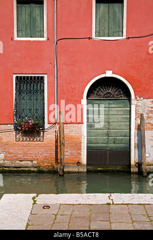 Architectural detail in Campo San Vidal, San Marco District, Venice, Veneto, Italy, Europe - Stock Photo