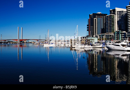 Melbourne Docklands / The NewQuay Residential and Marina Precinct in Melbourne Victoria Australia. - Stock Photo