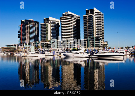 Melbourne Docklands / The NewQuay Residential and Marina Precinct in Melbourne Victoria Australia. - Stock Photo