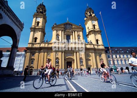 Theatinerkirche Munich Bavaria Germany - Stock Photo
